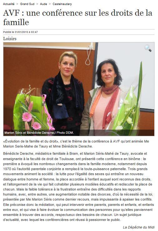 conférence AVF Castelnaudary